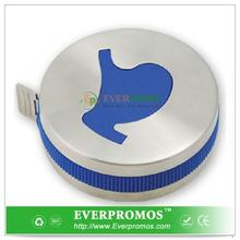 Custom Printed Stomach Shape Stainless Steel Tape Measure With Icon Button For South America