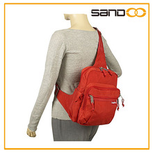 Outdoor travel men sling messenger bag, lady one strap backpack with many colors