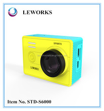 yellow / black Color and MicroSD / TF Memory Card Type mini hd extreme sports camera 1080p with Time Lapse
