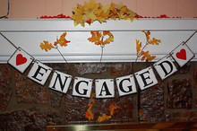 Engaged Engagement banner Wedding banner