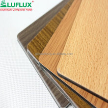 Wooden finished Facade aluminum panel plastic/ACP