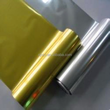 shrink film 12mic golden and silver metallized pet film for ever-stick labels