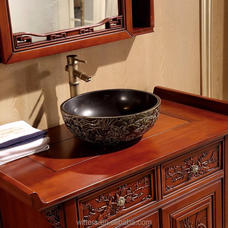 Wts 828syo contemporain asiatique style salle de bains for Meuble style asiatique
