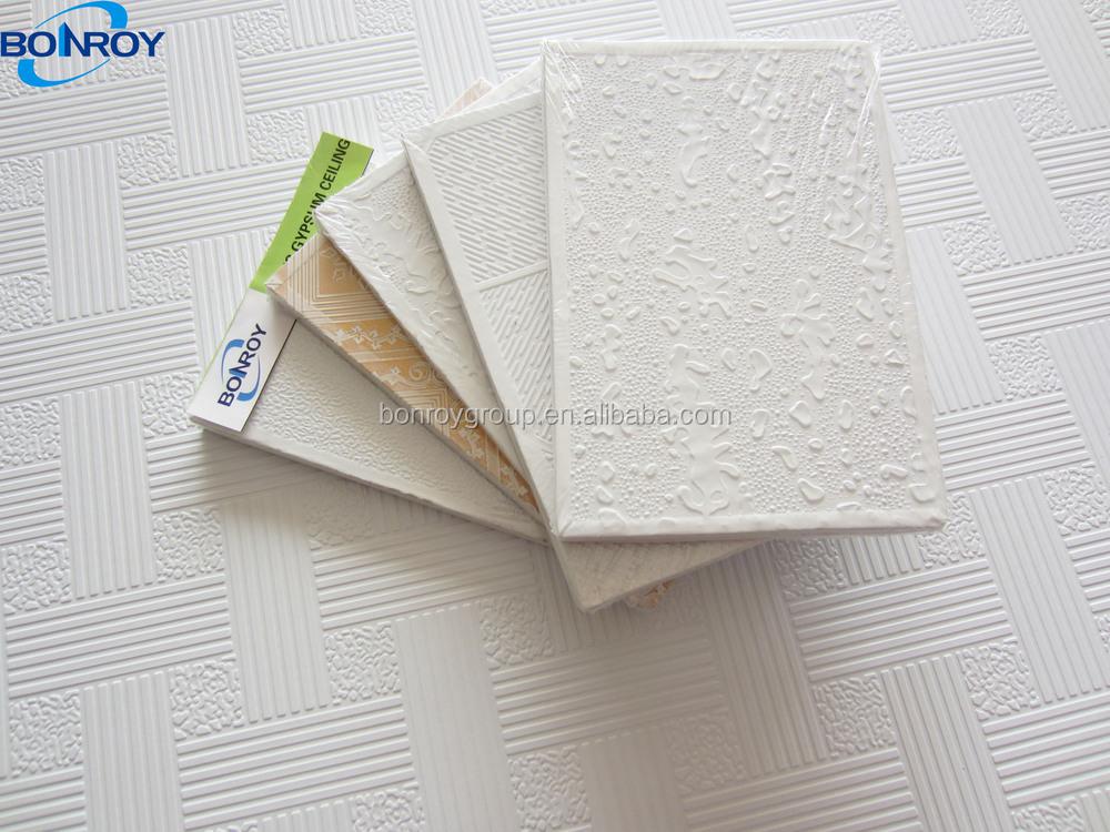 Nuevo diseño moderno yeso board falso techo con sonido de ...
