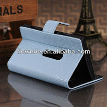 FL2271 2013 Guangzhou lychee skin stand wallet leather case with card slot for nokia n920