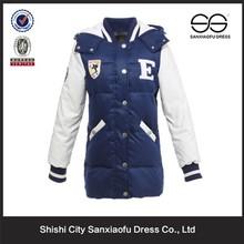 Fashion Leather Sleeve Trench Coat, Lady Varsity Jacket With Leather Sleeves, Women Leather Sleeves Jacket
