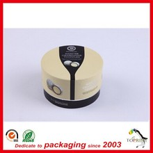 custom roll edged lids food grade paper container tube packaging for cookies