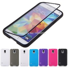 Newest Slim Touch Screen Flip TPU Wrap Up Phone Cover Case for Samsung Galaxy S5 SV i9600 G900