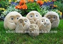 2013 popüler!!! Nehir taş El Oyması güzel hayvan heykelleri baykuş bahçe heykeller( 24 yıl fabrika)
