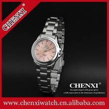 2015 Jewelry Timepieces Unisex Look Stainless Steel Watches His-and-Hers Watches CHENXI 005A Wholesale Pink Watches Women