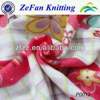 100% polyester printed polar fleece fabric