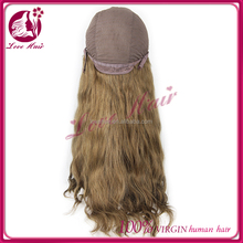 Top Quality Virgin Indian Front Lace Wigs/Glueless Full Lace Wigs U Part wig natural wave Remy Human hair