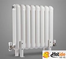 round tube vertical style heated towel radiator /hot water bathroom radiator