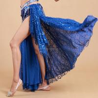 STELISY Cheap 6 color elegant arabic sexy dance long skirt,side silt skirt ladies belly dance costumes