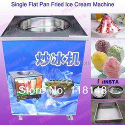 frying ice pan machine with big pan dia. 40 cm / flat pan fried ice cream machine