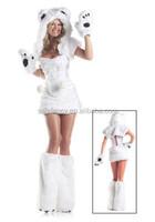 adult polar bear costume fancy dress costumes wholesalers QAWC-2752