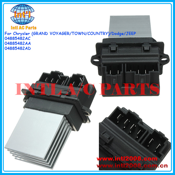 04885482ac 04885482aa 04885482ad voiture ac chauffe moteur for 2006 chrysler town and country blower motor resistor