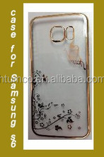 Wholesale fancy case,multicolor case,PC Case with Electroplating and Laser Pattern for Samsung S6