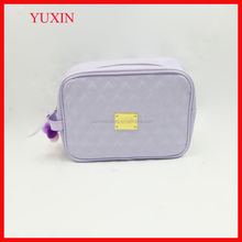 2015 summer new style cute professional custom wholesale cheap ladies PU shiny cosmetic bag