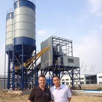 Full Automatic HZS50 Ready Fixed/Stationary Concrete Mixing Plant