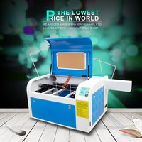 4060 WD-100watts mini acrylic leather galss wood paper card laser engraving cutting machine