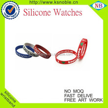 printed logo wristband new products rubber band/silicone wristbands