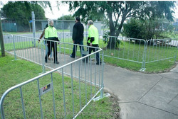 Welded and galvanized solid metal fence panel