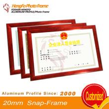 20mm wood grain High Quality A2 aluminum clip frame