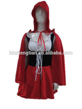 Hotonesie diabo sexy princesa little red riding hood costume adult