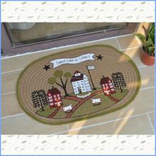 sheep house jute floor mat, door mat rug, entrance mat
