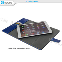 Suede Cowhide Genuine Leather Smart Case Cover for iPad Air 1 & 2 + Screen Shield & Stylus