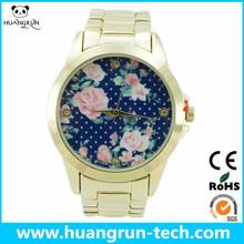 Best promotional gift hong kong beautiful ladies geneva platinum watch