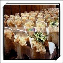 Hot Sale Champagne Shimmering Organza Chair Sash-J02924
