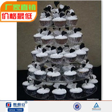 Cheap acrylic cake stand display plate /3 tier wedding cake stand