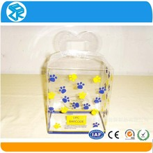 Clear plastic frozen food container triangle cake box packaging