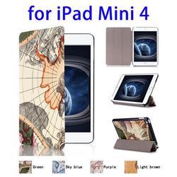Trustworthy Supplier 3 Folding Flip Leather for iPad Mini 4 Leather Case