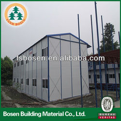 turnkey house Fast construction and Wind proof heat insulation prefab house