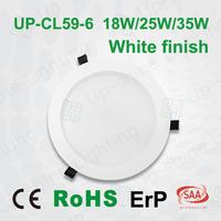 ultra slim pure white triac 0-10v DALI dimming 150mm led down light