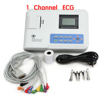 Portable Multi language Digital Single channel 12 leads Electrocardiograph ECG EKG Machine with printer CE/ISO approved