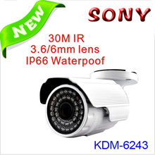 New updated model! Waterproof CMOS CCTV bullet 80M IR Camera with 4pc Array LEDs Action Now!