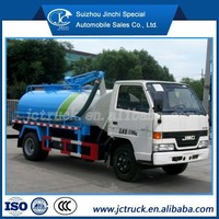 Vacuum tanks for sale / fecal suction truck JMC high pressure water jet sewer cleaning machine