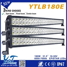 Y&T 180Warced camber Offroad led light bar, 31.5inch off road bars for Truck,Boat,Mine