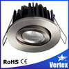 hot sale, tilt high luminum round dimmable led downlights china