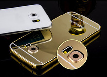 Aluminum Mirror Phone Case For Samsung S6,Electroplate Case For Samsung galaxy s6 edge