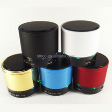 wholesale S08 Factory Price mini wireless bluetooth speaker gold with MicroSD/TFfor mobile phone