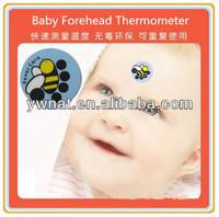 Cute LCD thermochromic strip kids forehead mini thermometer LCD fever thermometer strip for baby