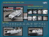 new model Liya 5.2m rigid inflatable for 10 seats rib boat