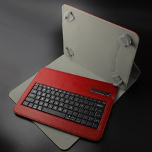 9 and 10 inch universal tablet Wireless leather bluetooth keyboard , Flexible leather case and ABS keyboard