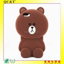 """Brown Bear mobile phone case 3D Cartoon Cute Soft Silicone Case Cover for 5S,6 4.7"""",5.5"""""""