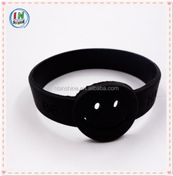 Debossed wristband , sport silicone bracelet